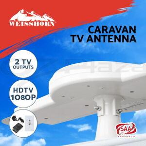 Weisshorn-Caravan-TV-Antenna-Aerial-Booster-RV-Mounted-Motorhome-HDTV-Digital