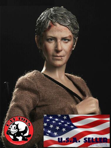 IN STOCK 1//6 Carol Peletier The Walking Dead Melissa McBride Head Sculpt USA