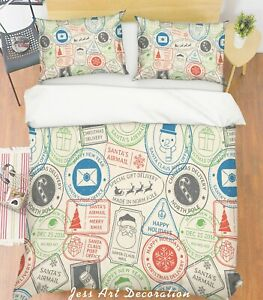 3D-Color-Postmark-Quilt-Cover-Duvet-Cover-Comforter-Cover-Single-Queen-King-25