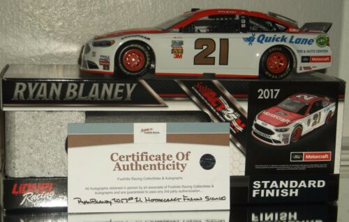 2017 RYAN BLANEY #21 MOTORCRAFT AUTOGRAPHED 124 CAR#703937 COMES WCOA NICE
