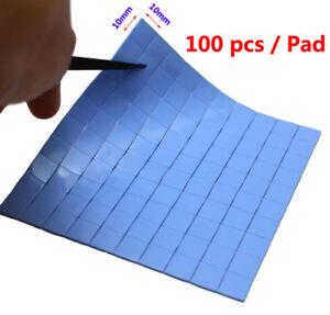 Blue 100mmx100mmx0.5mm GPU CPU Heatsink Cooling Thermal Conductive Silicone Pad