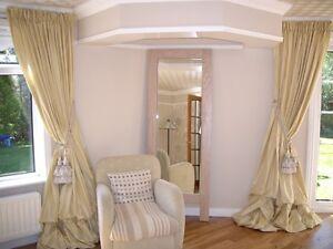 Fully Custom Made Dupioni Silk Curtains