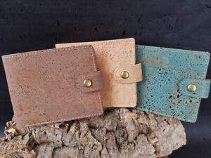 Kork-Vegane-Herren-Geldboerse-Klein-Brieftasche-Portemonnaie-Eco-Praktisch
