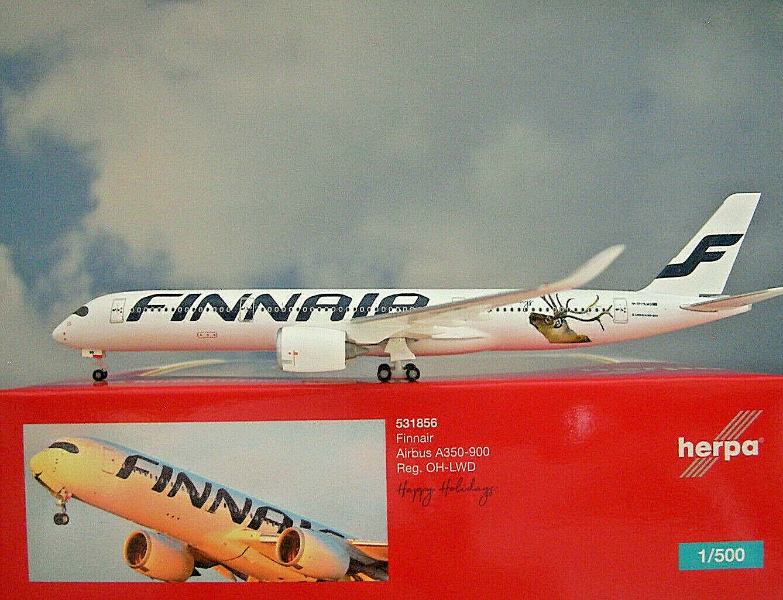 servicio de primera clase Herpa Wings 1 500 Airbus A350-900 Finnair Finnair Finnair Oh-Lwd 531856 Modellairport500  venta caliente en línea