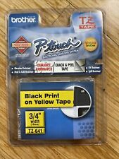 New Listingnew Brother P Touch Black Print Yellow Tape Laminated Labels Tz641 34 Width