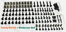 Black FAIRING BOLTS KIT SCREWS+Windshield Bolts For Yamaha TMAX 500 2008-2011