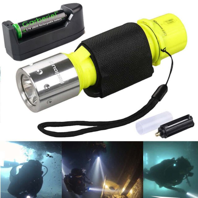 Professional1000LM Waterproof LED Diving Strong Flashlight Underwater Torch Lamp