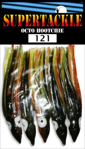 "8 cm HOOCHIES INVENTORY UV fishing lure skirts Bass SUPERTACKLE  3/"" Salmon"