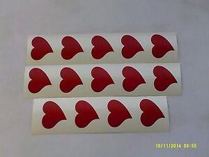 20 - 500 Red curly heart stickers fun children love Valentines girls hearts
