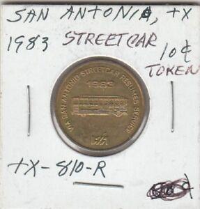 T-Token-San-Antonio-TX-Street-Car-Token-G-F-10-Cents-1983