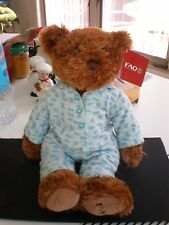 "FAO Schwarz Teddy Bear Plush Animal IN Pajamas Brown 15"" Cute CUDDLY 2012 YEAR"