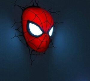 Marvel spider man facemaskhead 3d fx deco wall nightlight led image is loading marvel spider man face mask head 3d fx mozeypictures Gallery