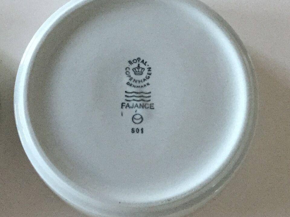 Porcelæn, Tallerkener - kage / side, Blåkant - Blå kant -