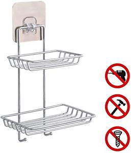 Shower Caddy N Adhesive Bathroom Shelf Wall Mounted Changjin Soap Dish Holder