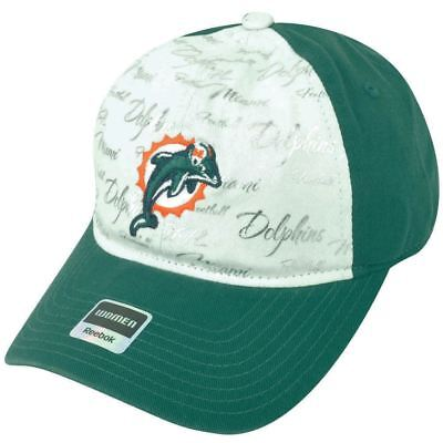 Fanartikel Sport 100% QualitäT Nfl Miami Dolphins Reebok Damen Clipbuckle Weiß-aqua Silber Kappe Mütze Dh1686