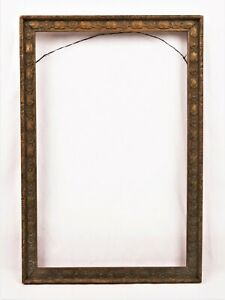 Antique-Ornate-Art-Nouveau-Picture-Frame-Gold-Painted-Gesso-Fits-10-5-x-6-75