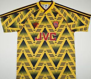 1991-1993 ARSENAL ADIDAS AWAY FOOTBALL SHIRT (SIZE M)