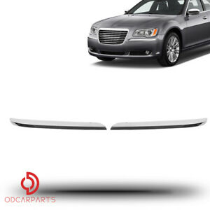 300 Touring PASSENGER /& DRIVER SIDE OE# 68127940AB,68127941AB 300 S TYFYB FRONT BUMPER MOLDING CHROME TRIM SET=LH /& RH FITS FOR 2011-2014 300 C Luxury
