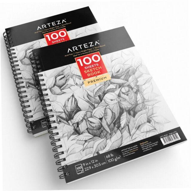 Papirat Zeichenblock Malbuch Skizzenbuch Sketchbook A4 mit Spiralbindung Krake