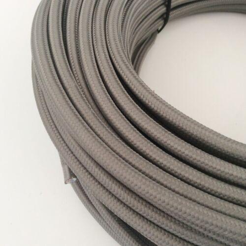 rond gris 3x0,75mm² h03vv-f textile direction Câbles textile tissu Câble