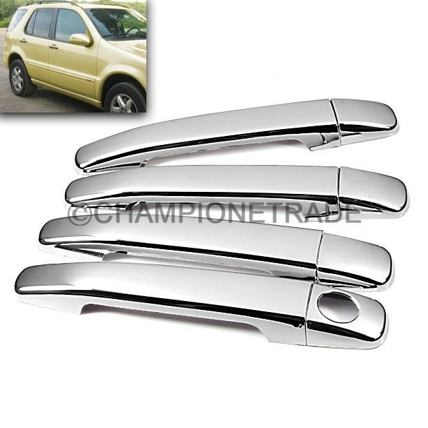 Chrome Side Door Handle Covers Kit for 93-05 Mercedes-Benz ML430/500 C230/280 CT