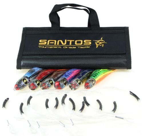 "Rigged 20-50lb Santos /""Tuna Dorado/"" Offshore Big Game Trolling Lure Pack"