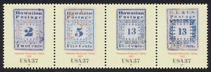 #3694a-d 37c Hawaiano Misionero Sellos, Se-Tenant Franja Cualquier 5=