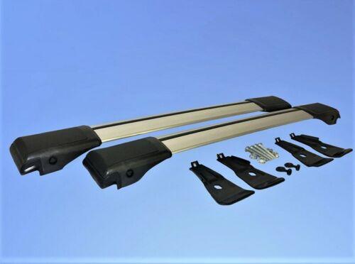 Lockable AeroWingBar Roof Rack Cross Bar Set Fits Volkswagen Touran I 2010-2015