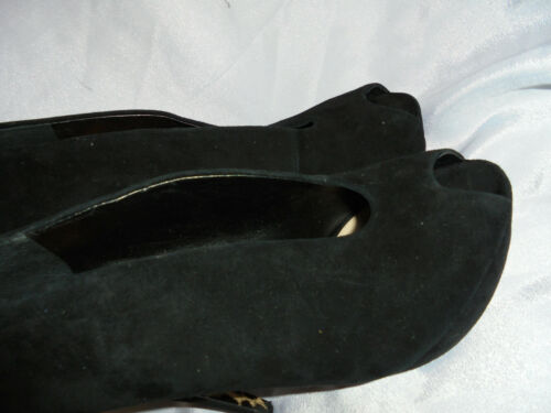Wedge in Eu On Dune Heel nera Uk Size Vgc Slip Ladies pelle 6 scamosciata 39 Shoes 5qxxtAOw