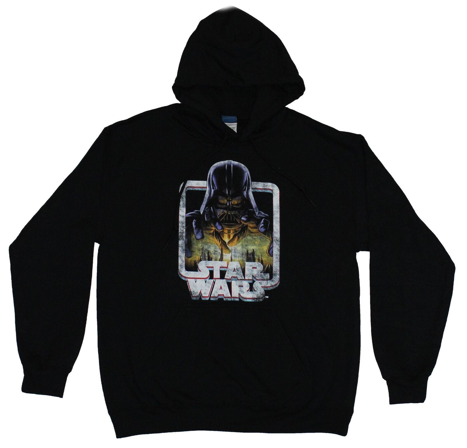 Star Wars Sweatshirt Uomo Hoodie Sweatshirt Wars - Distressed Reaching Darth Vader Image f4cbe7