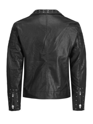 ontwerper Jack zwarte voor heren Jones bikerstijl jas Leren 6FqZwn4aZ
