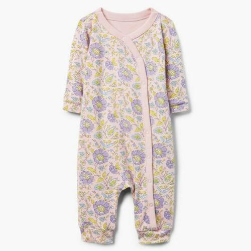 NWT Gymboree I/'m New Here Baby Girls Pink Floral One Piece Romper Jumpsuit