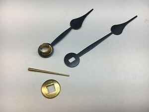 Antique Clock Spade Hand Set With Oblong Hole For 5 Dial With Washer And Pin Ebay