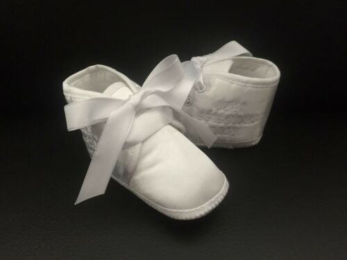 Baby Boy My Special Day Christening Baptism Pram Shoes Soft Sole Booties 0-12 M