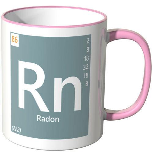 """Wandkings Tasse Tableau périodique /""""RN-radon/"""" Ver Couleurs Cadeau Chimie"""
