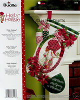 Bucilla Holly Hobbie 18 Felt Christmas Stocking Kit 86116 Poinsettias