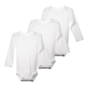 2b4d9e092226 Unisex Baby Boys Girls Grow Long Sleeve White Cotton Bodysuit One ...