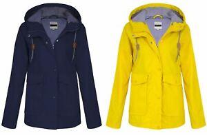 Womens-Ladies-Yellow-Festival-Water-proof-Rain-Outdoor-Mac-Raincoat-Jacket-Size