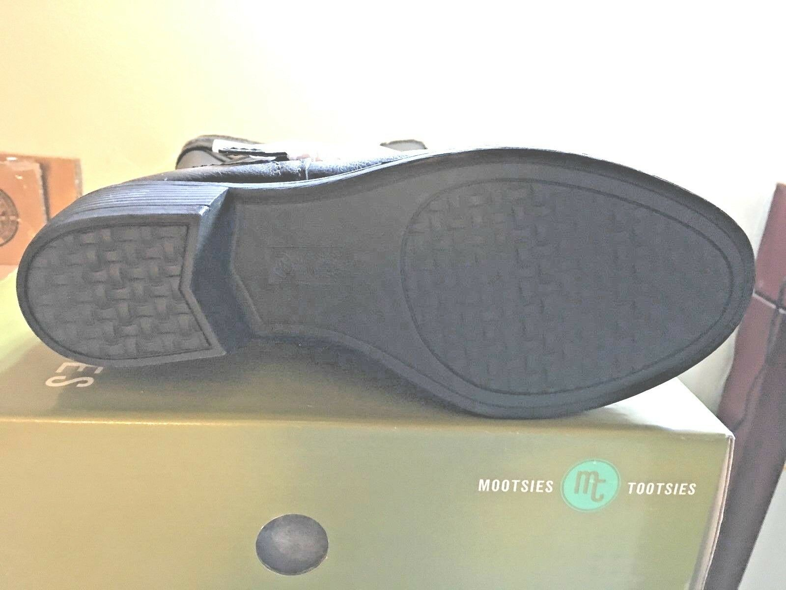 Mootsies Tootsies Ladies Black Knee High Boots Size 7.5 Medium