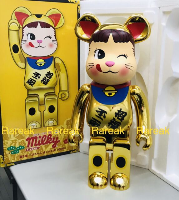 100/% Silver Lucky Cat #5 Bearbrick Medicom Be@rbrick Skytree Maneki-neko 400/%