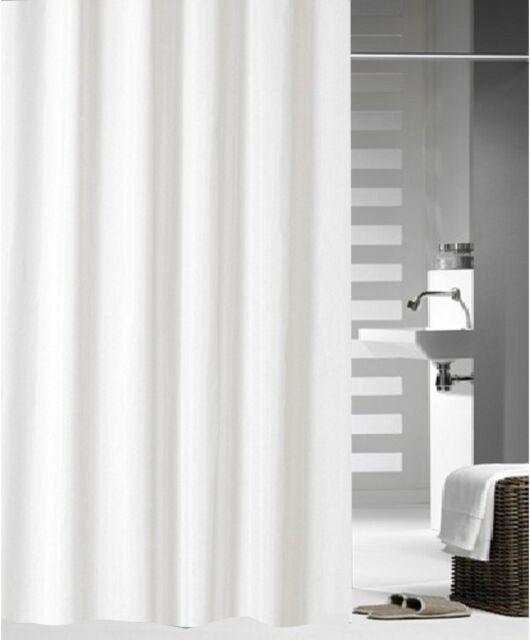 Crisp white shower curtain 2.1x1.8 new free shipping