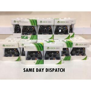 Microsoft-Xbox-360-Official-Wireless-Controller-Black-Genuine-Xbox-360-D1