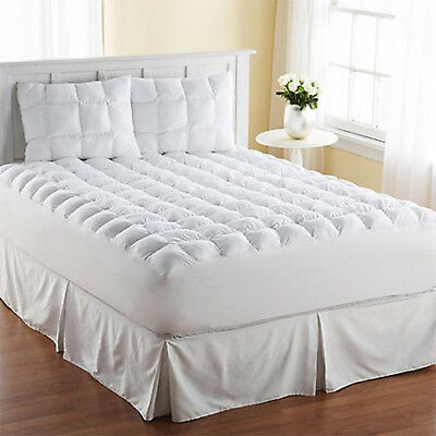 King Size Mattress Pad Cover Pillow Top Topper Thick ...