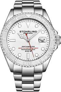 Stuhrling-Depthmaster-Men-039-s-18-Jewel-Swiss-Automatic-200-Meter-Dive-Watch-893-01