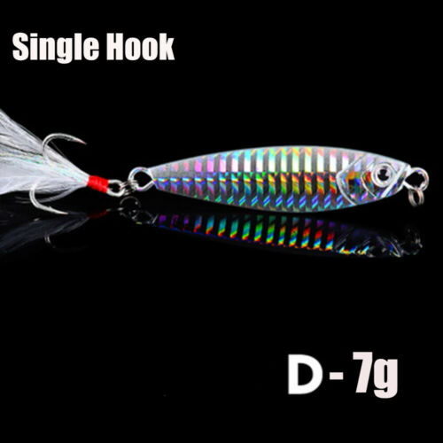 Minnow Spinning Baits Feather Metal Fishing Lures Lead Casting Jig Bait