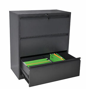 Image Is Loading Steel Lateral Filing Cabinet Metal Office Storage Cabinets