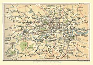 London Map Suburbs.Details About Railway Map Of London Suburbs 1908 1000 Piece Jigsaw Puzzle Jg