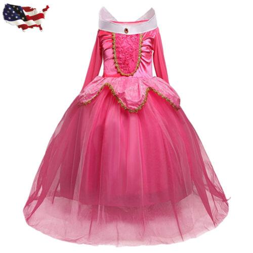 Sleeping Beauty Princess Aurora Costume kids Party Dress