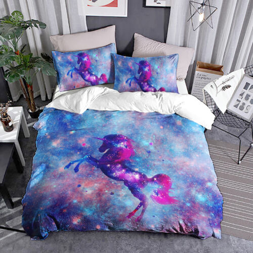 Unicorn Duvet Cover Quilt Cover Set Twin Full Queen King Size Bedding Set Animal
