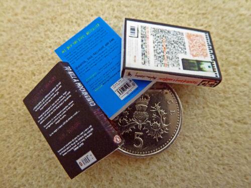 3 bambole Casa In Miniatura libri Mockingbird Wallflower colpa nelle nostre stelle realizzata a mano